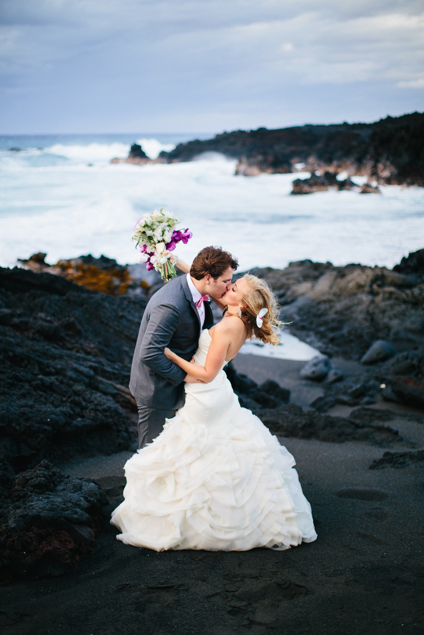 Kukio Ka Uhu Development Hawaii Black Sand Beach Wedding Vintage Lace Kona Coordinator And Island Event Planner